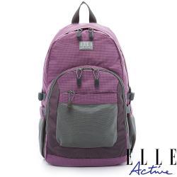 【ELLE Active】Fish Net 漁網系列-後背包-大-紫色
