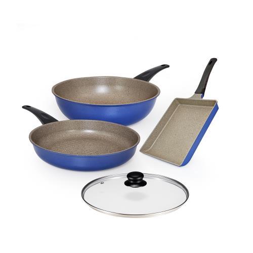 瑞士MONCROSS英國藍全球限量鍋具組/