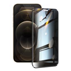 NISDA for iPhone12 / 12 Pro 6.1吋 防窺2.5D滿版玻璃保護貼-黑