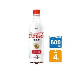 可口可樂 纖維+寶特瓶600ml(4入/組)