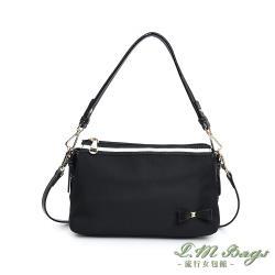 【L.M.bags】歐美名模款蝴蝶結側背兩用包