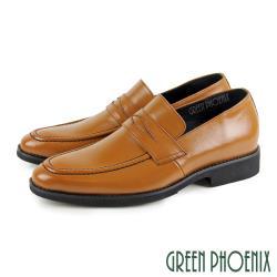 GREEN PHOENIX 超輕量經典都會雅士簡約全真皮通勤/商務/紳士/便仕樂福鞋(男鞋)T8-11510
