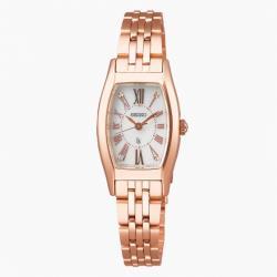SEIKO精工LUKIAV117-0EE0P玫瑰金酒桶型太陽能腕錶(SUP440J1)