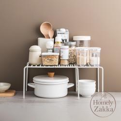 Homely Zakka 日式簡約工藝鐵製多功能可伸縮層架/收納置物架/整理架