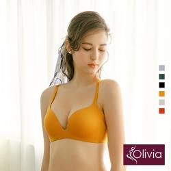 Olivia【曖昧系列-冰淇淋戀人】無鋼圈飽和純度PLUS+一片式內衣-鵝黃
