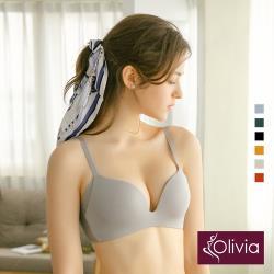 Olivia【曖昧系列-冰淇淋戀人】無鋼圈飽和純度PLUS+一片式內衣-灰色