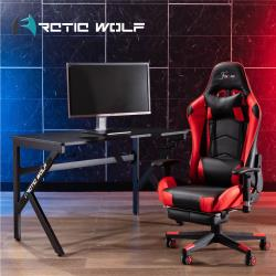 ArcticWolf Cheetah獵豹K型碳纖維電競桌-黑色