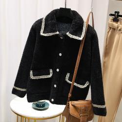 【韓國K.W.】(預購)輕美學刺激快感水貂绒外套