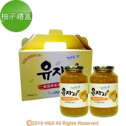 《韓廣》韓國蜂蜜生柚子茶禮盒(1kg/2入)