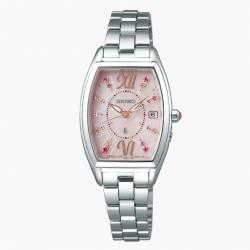 SEIKO 精工 LUKIA 1B32-0AA0P【限量】酒桶型電波萬年曆太陽能腕錶 (SSVW129J)