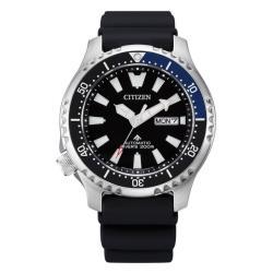 CITIZEN 星辰 PROMASTER 鋼鐵河豚系列 深海潛航限量機械腕錶-黑X藍框(NY0111-11E)