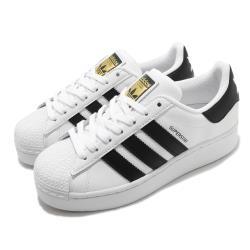 adidas 休閒鞋 Superstar Bold 女鞋 海外限定 愛迪達 三葉草 貝殼頭 皮革 白 黑 FW5771 [ACS 跨運動]