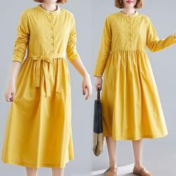 【韓國K.W.】(預購) 獨賣甜美長袖洋裝