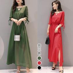 【韓國K.W.】(預購) 完美風格中長袖洋裝