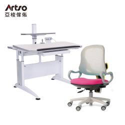 【Artso 亞梭】DK桌105cm層架型+QQ抗菌椅(學習桌椅/成長桌椅/銀離子)