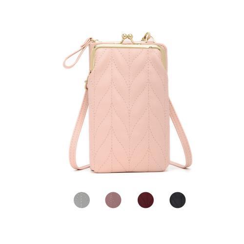 【lapagayo】時尚巧型菱格斜背/側肩背/手機包-預購