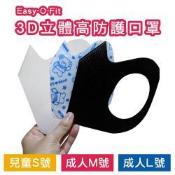 Easy-O-Fit 3D立體高防護口罩(30片/盒)x6盒