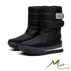 【MINE】機能防水加厚保暖太空雪靴 黑