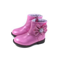 冰雪奇緣 Elsa Anna 短靴 拉鍊 桃紅色 中童 童鞋 FNKP14682 no751