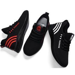 【Alice】 (預購)黑紋樣彩運動鞋-彈力 輕量  耐磨 休閒鞋