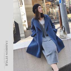【GF 快時尚】簡約素色大翻領毛呢大衣(M-XL)