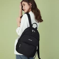 【金安德森】Sussex 線性壓紋大容量後背包-黑色