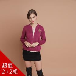 QWI歐式藝術風刺繡極細羊毛外套