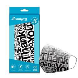 【Beauty小舖】印花3層防護口罩_國際禮儀(10入/盒)- 符合CNS 14774國家檢驗標準