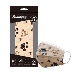 【Beauty小舖】印花3層防護口罩_波霸奶茶(10入/盒)- 符合CNS 14774國家檢驗標準