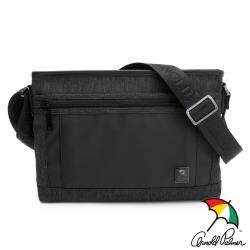 Arnold Palmer- 下沉式斜背包  灰色拼接滌綸系列-黑灰色