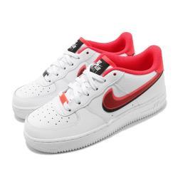 Nike 休閒鞋 Air Force 1 LV8 運動 女鞋 經典 AF1 舒適 皮革 簡約 穿搭 大童 白紅 CW1574101 [ACS 跨運動]