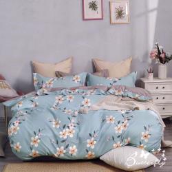 BUTTERFLY-台製純棉被套-月下花事-藍-4.5X6.5