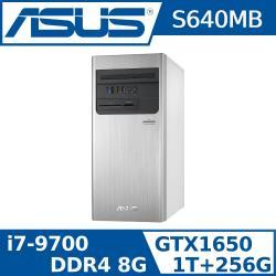 (三年保固) ASUS 華碩 H-S640MB-I79700015T (i7-9700/8G/1TB+256G/GTX1650/W10)