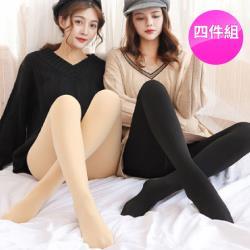 4件組【JS嚴選】長纖雪絨加厚刷毛180丹塑腿褲襪(買2件送2件)