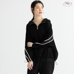 【iNio】時尚運動風連帽長袖上衣 -現貨快出【C0W1266】