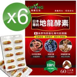 【湧鵬生技】日本專利地龍酵素6入組(蚓激酶;白藜蘆醇;60顆/盒;共360顆)