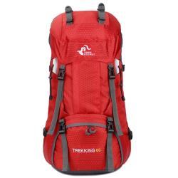 FREEKNIGHT 紅 60L 輕量透氣休閒/登山背包 FK0395RD