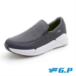 G.P 男款愜意休閒懶人鞋P6937M-灰色(SIZE:39-44 共二色) GP