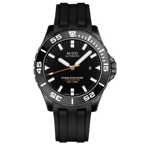 MIDO美度M0266083705100/OceanStar海洋之星天文台認證600米潛水機械腕錶/43.50mm/