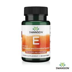【Swanson 斯旺森】維生素E 400 IU軟膠囊(60顆)