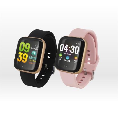 人因彩色大錶面運動心率智慧手錶組