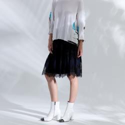 【PANGCHI 龐吉】法式優雅古典雙色蕾絲中長裙(2015006-35/36)