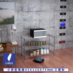 客尊屋-粗管小資型 45x120X75Hcm 銀衛士三層架