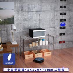 客尊屋-粗管小資型 45x120X75Hcm 銀衛士二層架