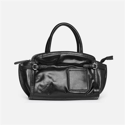 【米蘭精品】手提包真皮側背包-牛皮復古大容量純色3色73zo42/