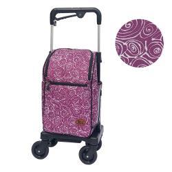 【Rollker羅克】購物車 旅遊 行李拖車 日本購物車 老人散步車(NO.07SA-意象紫)
