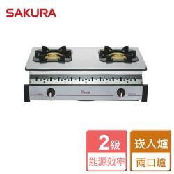 【SAKURA 櫻花】全白鐵嵌入爐 -部分地區含基本安裝詳閱商品介紹-G-6320K