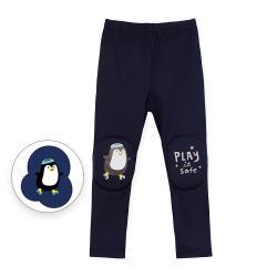 韓國 OZKIZ - 護膝彈力緊身褲-海軍藍