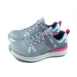 SKECHERS 運動鞋 防潑水 女鞋 灰色 149081LBPK no268