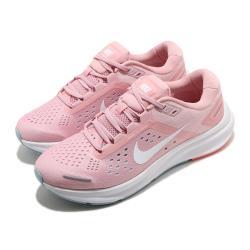 Nike 慢跑鞋 Zoom Structure 23 女鞋 氣墊 輕量 舒適 避震 路跑 健身 粉 白 CZ6721601 [ACS 跨運動]
